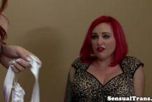Curvy lesbian tgirl doggystyles bossy redhead