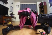 Sissy handcuff quicky